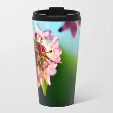 Pink Flowers Blue sky Travel Mug