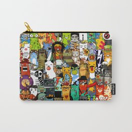 Funny Characters Collage — Culture & Science By Cats Carry-All Pouch