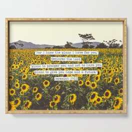 Jeremiah Sunflowers Serving Tray