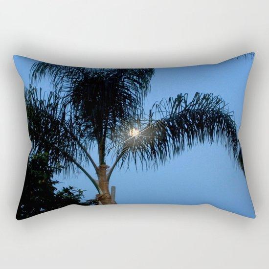 Moonlight through the Palms, Southern California Rectangular Pillow