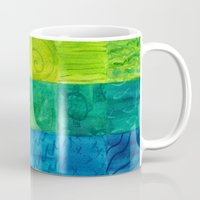 bali Mugs featuring Bali Quilt by Catherine Holcombe