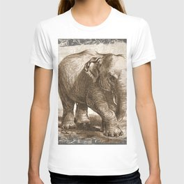 Elephant Sketch (Monochrome) T-shirt
