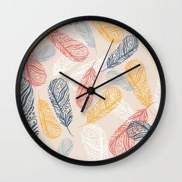FeathersI Wall Clock