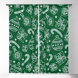 Christmas Doodle Pattern Blackout Curtain