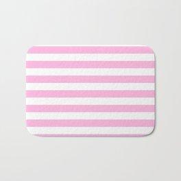 Stripes (Pink & White Pattern) Bath Mat