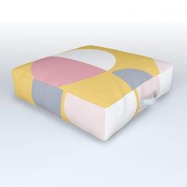 Mid Century Modern Moon & Sun Pattern 2 Outdoor Floor Cushion