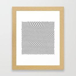 3D- OP- Dot Framed Art Print