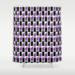 Lipstick Junkie - Pretty Purple Shower Curtain