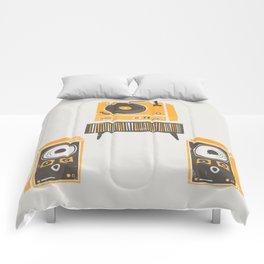 Vinyl Deck And Speakers Comforters
