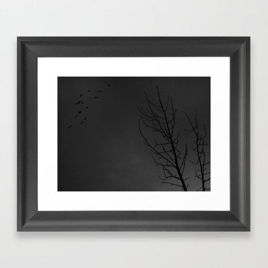 Dark sky Framed Art Print