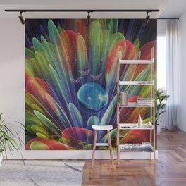 Dream world with butterflies, fractal mixed media art Wall Mural