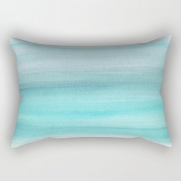 Aqua Blue Watercolor Dream #1 #painting #decor #art #society6 Rectangular Pillow