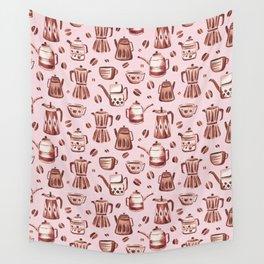 Percolator Pink Wall Tapestry