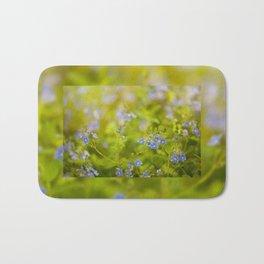 Beautiful blue speedwell flowerets Bath Mat
