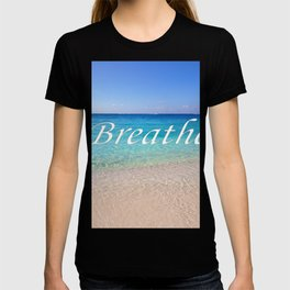 Breathe Cayman Relaxing Beach Waves T-shirt