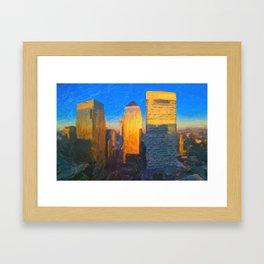 Sunny Day - Canary Wharf London Framed Art Print