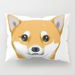 a shiba inu dog headshot Pillow Sham