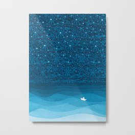 Ornament sky, nautical blue Metal Print
