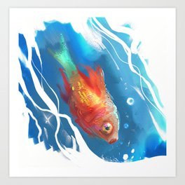 Golden Fish Art Print