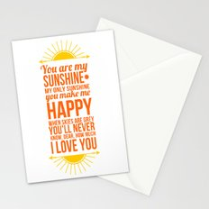 You are my sunshine! Stationery Cards