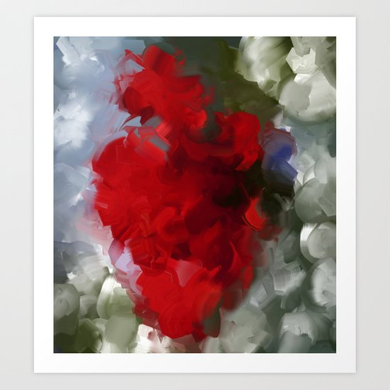 Flower in red Art Print