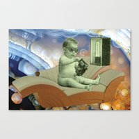 toddler Canvas Prints featuring Toddler Time Machine by Ira Carter