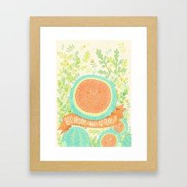 Bloom and Grow Framed Art Print