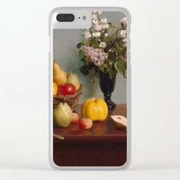 Henri Fantin-Latour - Still Life with Flowers and Fruit (1866) Clear iPhone Case