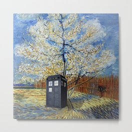 Starry Night of Tardis Metal Print