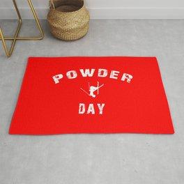Powder Day Red Rug