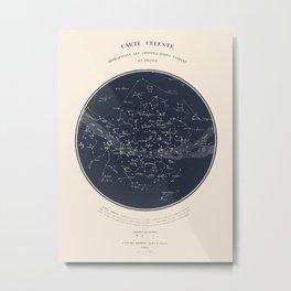 Carte Celeste Metal Print