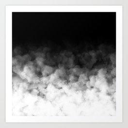 Ombre Black White Minimal Art Print