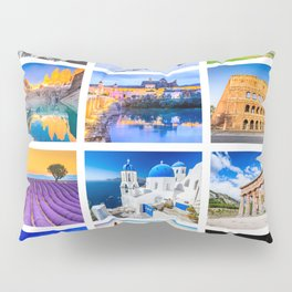 World travel collage Pillow Sham