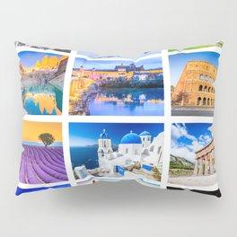 World travel collage Pillow Sham