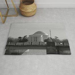 Jefferson Memorial on Christmas 2017 Rug