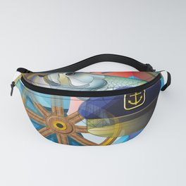 Nautical Design Fanny Pack
