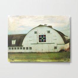 Amish Barn Quilt Kalona, Iowa Metal Print