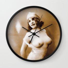 Digital Pinup Painting Wall Clock