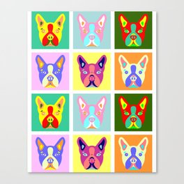 Boston Terrier Pop Art Canvas Print