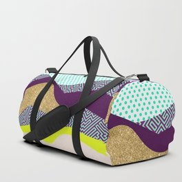 Neon Party Dunes Pattern Duffle Bag