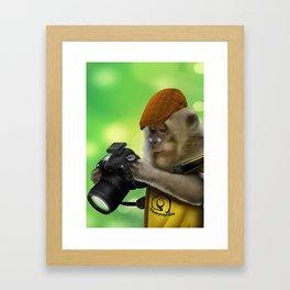 Photographer of the apes Framed Art Print