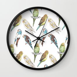 Budgies Budgies Budgies Wall Clock