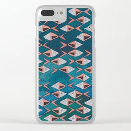 School of Fish Pattern Clear iPhone Case