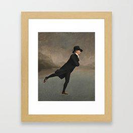 Robert Walker- The Skating Minister Framed Art Print