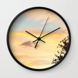 Savannah Riverwalk at Sunset Wall Clock