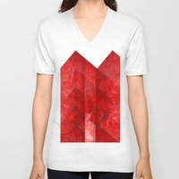 discount V-neck T-shirts featuring Ruby Nebulæ by Aaron Carberry
