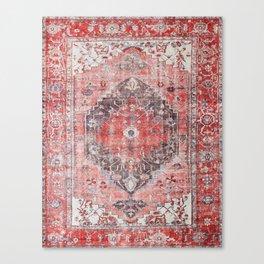 Vintage Anthropologie Farmhouse Traditional Boho Moroccan Style Texture Canvas Print
