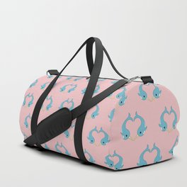 Narwhal heart Duffle Bag