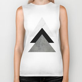 Arrows Monochrome Collage Biker Tank