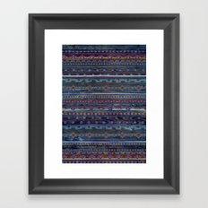 VINTAGE TRIBAL PATTERN Framed Art Print